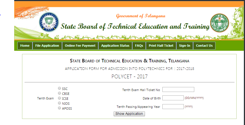 TS polycet online application